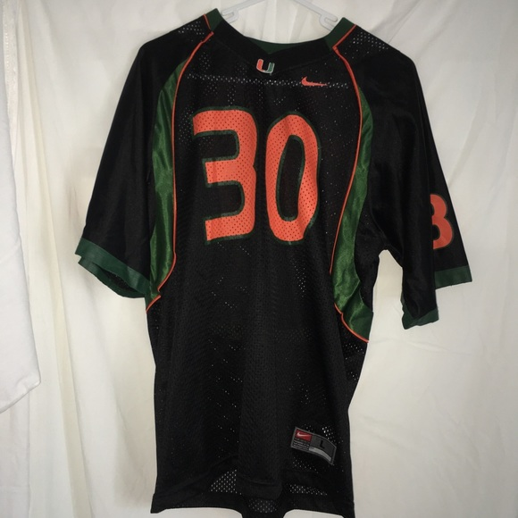 official photos b026d 3f0cb Nike University of Miami Football Jersey